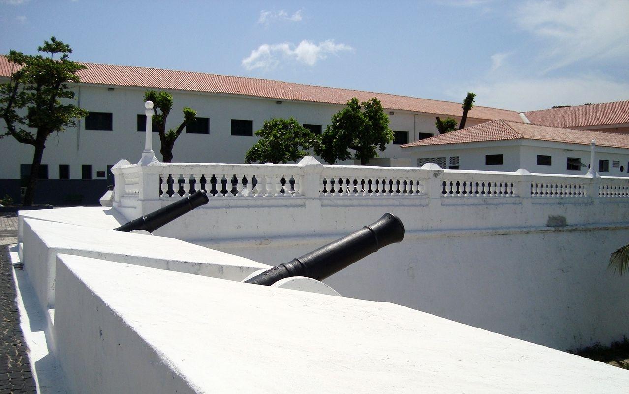 canhão na Fortaleza Nossa Senhora da Assunção